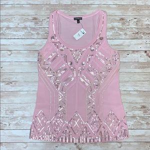 *New Express Pink Sequin Tank Top